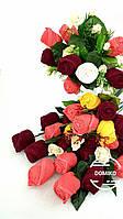Подарок из Махровых Салфеток Букет роз - Domiko, фото 1