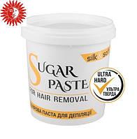 Сахарная паста для депиляции SILK&SOFT в домашних условиях мануальная 500 г