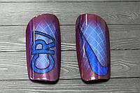 Щитки футбольные Nike Mercurial CR7 Lite Guard Purple/Blue/Black, фото 1