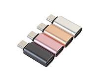 Переходник microUSB - Type C, TRY PLUG, черный, серебристый, розовый, гарантия 12 мес