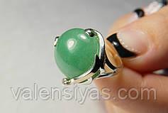 Набор серебряных украшений - кольцо и серьги с нефритом, хризопрасом , фото 3