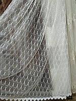Тюль для гостиной королевский фатин с вышивкой  люкс качество, фото 1