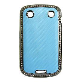 Чехол накладка для BlackBerry Bold 9900 / 9930, карбон Голубой