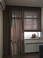 Римская штора коричневая