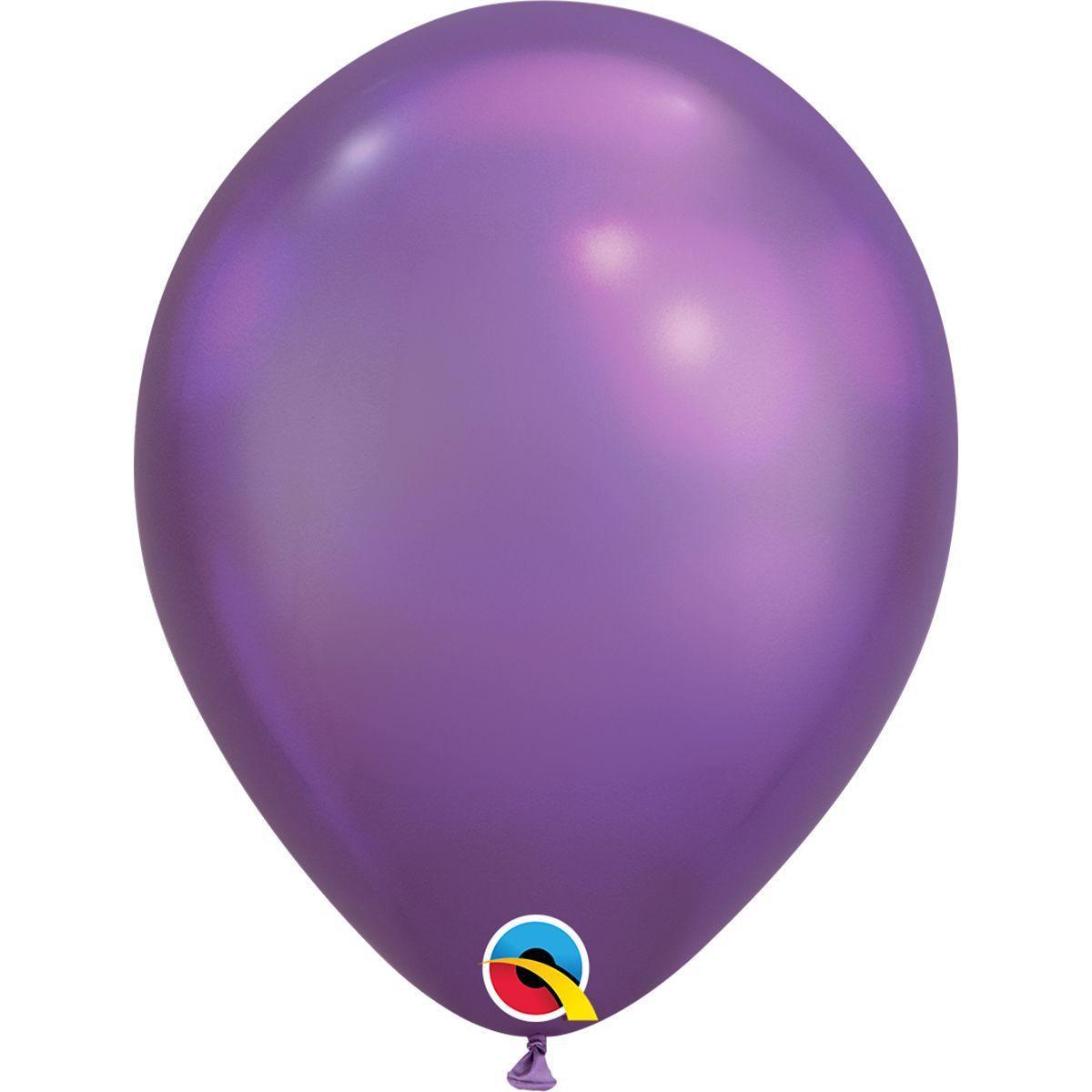 """Латексный шар 11"""" (28см) Хром фиолетовый"""