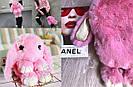 """🐰 Сумка-Рюкзак 🐰 розовый меховой💕  Кролик """"Rex Fendi"""" (зайка, зайчик) как игрушка, фото 5"""