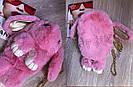 """🐰 Сумка-Рюкзак 🐰 розовый меховой💕  Кролик """"Rex Fendi"""" (зайка, зайчик) как игрушка, фото 3"""