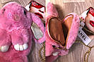 """🐰 Сумка-Рюкзак 🐰 розовый меховой💕  Кролик """"Rex Fendi"""" (зайка, зайчик) как игрушка, фото 2"""