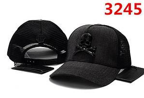 Бейсболка кепка Филипп Плейн мужская/женская черная (реплика) Сap Philipp Plein Black