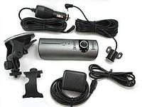 Видеорегистратор на 2 камеры DVR 990 + gps
