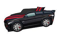 Кровать машина Премиум Land Rover черный