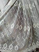Красивая тюль в спальню королевский шифон п-во Турция , фото 1