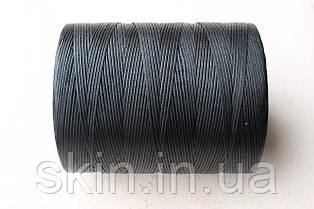 Нитка вощена, плоска, чорного кольору, товщина - 1 мм, 500 метрів, артикул СК 5022