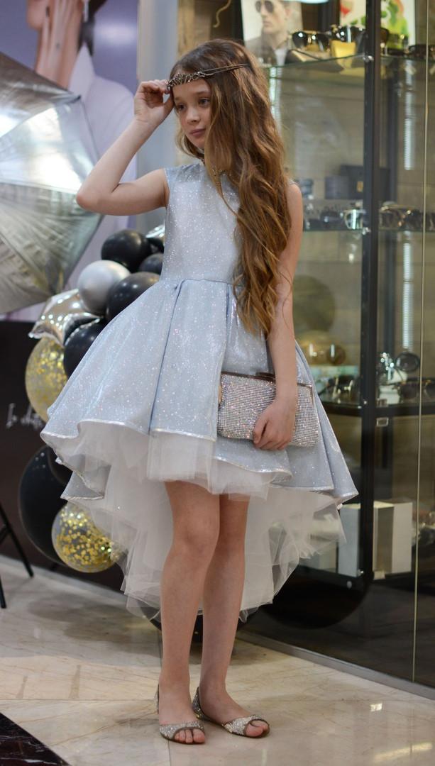 Детское нарядное платье выпускное платье пышное с переливающимся эффектом размер:от 110 см до 146 см