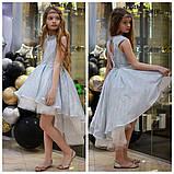 Детское нарядное платье выпускное платье пышное с переливающимся эффектом размер:от 110 см до 146 см, фото 7