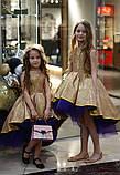 Детское нарядное платье выпускное платье пышное с переливающимся эффектом размер:от 110 см до 146 см, фото 2
