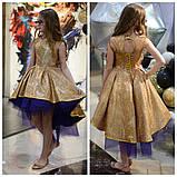 Детское нарядное платье выпускное платье пышное с переливающимся эффектом размер:от 110 см до 146 см, фото 4