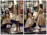 Детское нарядное платье выпускное платье пышное с переливающимся эффектом размер:от 110 см до 146 см, фото 5