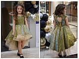 Детское нарядное платье выпускное платье пышное с переливающимся эффектом размер:от 110 см до 146 см, фото 8