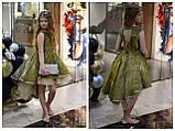 Детское нарядное платье выпускное платье пышное с переливающимся эффектом размер:от 110 см до 146 см, фото 3