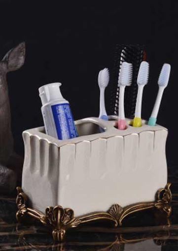 Стакан подставка для зубной пасты и щеток настольный 0774