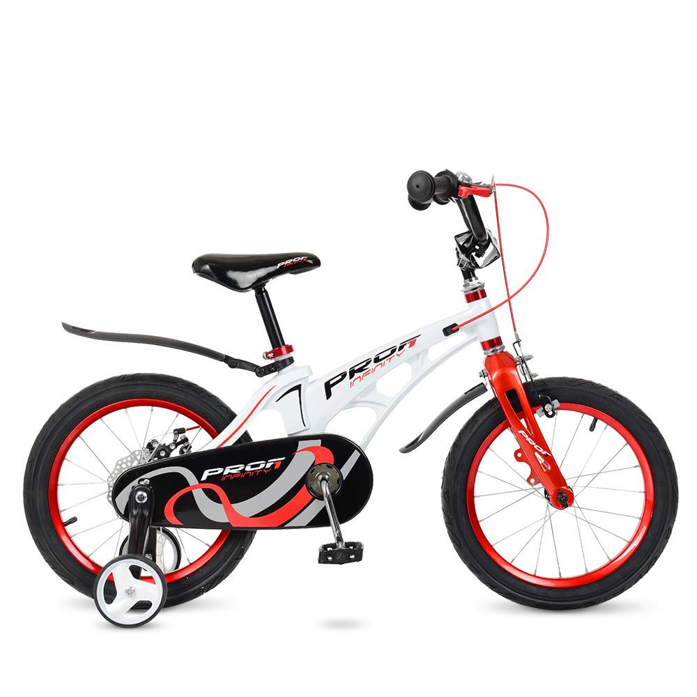 Велосипед дитячий PROF1 16д. LMG16202 Білий