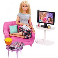 Мебель для кукол Барби Гостинная с аксессуарами FXG36, фото 3