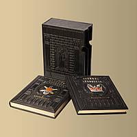 """Набор книг """"Великие"""" (2 тома) в кожаном переплете"""