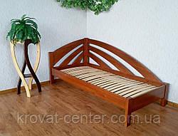 """Угловая полуторная кровать из массива натурального дерева """"Радуга"""" от производителя, фото 3"""