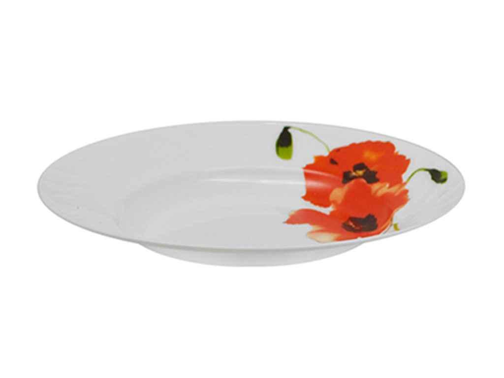 """Набір тарілок супових склокерамічні 22,9 см Мак (6 штук) MS-2396-7276 """"STENSON"""""""