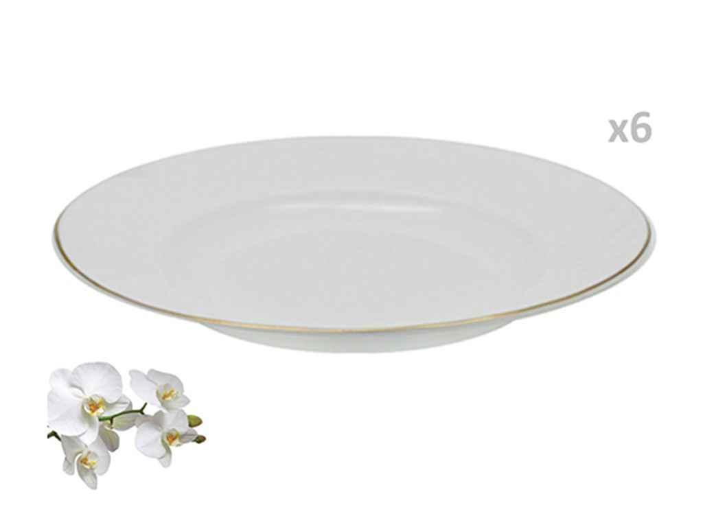 """Набор суповых тарелок 22,9 см Роскошь (6 штук) MS-2430-2126 """"STENSON"""""""