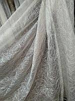 Шикарная тюль паутинка органза  п-во Турция бежевая, фото 1