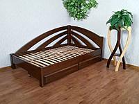 """Полуторная кровать из массива натурального дерева с ящиками """"Радуга"""""""
