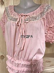 Блуза женская большого размера штапельная QUAN