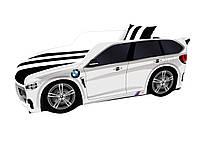 Кровать машина Премиум BMW белый, фото 1