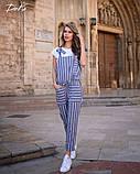 Комбинезон льняной женский летний с карманами размеры:42-44,46-48,50-52,54-56, фото 3