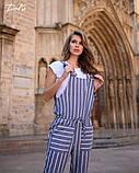 Комбинезон льняной женский летний с карманами размеры:42-44,46-48,50-52,54-56, фото 2
