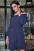 Платье 12-3467 - т.синий: S M L XL, фото 1