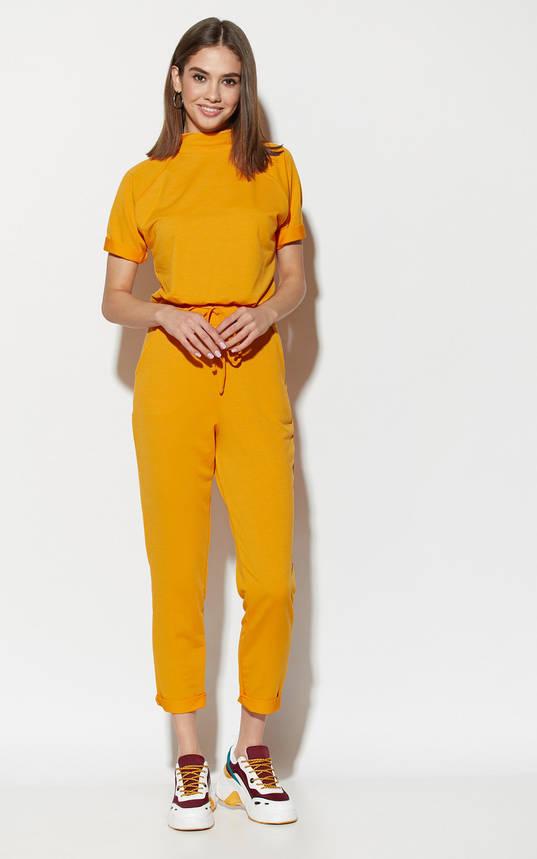 Комбинезон женский с коротким рукавом желтый, фото 2