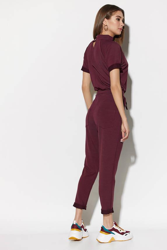 Комбинезон женский с коротким рукавом бордовый, фото 2