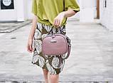 Модная маленькая женская сумка. Сумка женская  с тиснением под крокодила (черная), фото 6