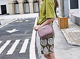 Модная маленькая женская сумка. Сумка женская  с тиснением под крокодила (черная), фото 7