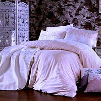 Набор постельного белья с покрывалом Royal Nazik Hitit Pike Set Pudra, фото 1