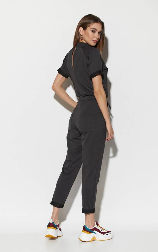 Комбинезон женский трикотажный черный, фото 2