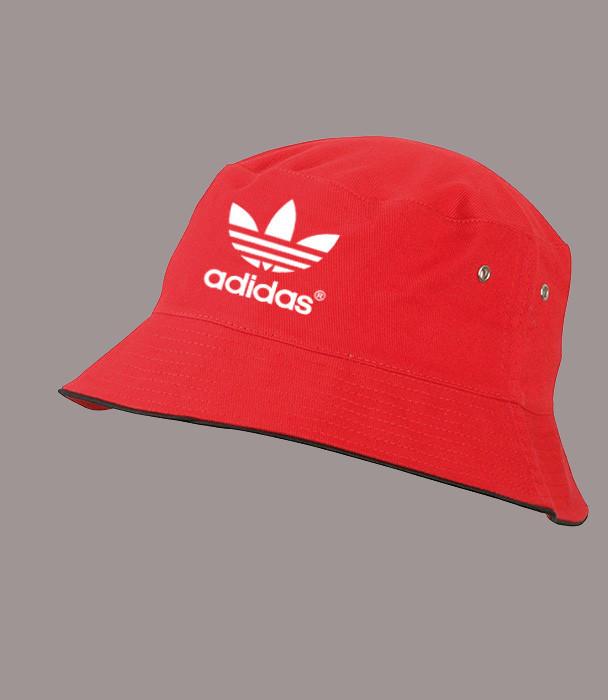Панама Адидас летняя красная  | Adidas мужская как оригинал