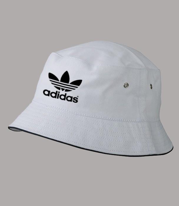 Панама Адидас Black, белая  | Adidas мужская как оригинал