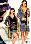 Комплект халат и ночная рубашка качество лайкра Night Angel №7696