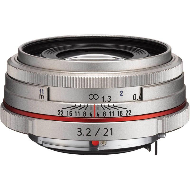 Об'єктив HD Pentax DA 21mm F/3.2 AL Limited Silver ( на складі )