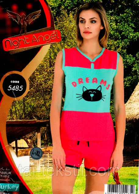 Пижама с шортами комплект  Night Аngel № 5485
