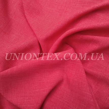 Ткань лен габардин коралловый, фото 2